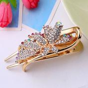 OliaDesign® Crystals Hair Clip Bang Headdress Barrette Rhinestones Moon Clamp Hairpins