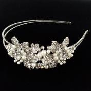 Beautyxyz Wedding Fashion Women's Crystal Rhinestone pearl Headband Hair Band A1