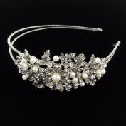 Beautyxyz Wedding Fashion Women's Crystal Rhinestone pearl Headband Hair Band AA