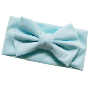 Shuohu Baby Solid Candy Colour Bowknot Stretch Headband Hair Band