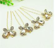 Fashion cat The bride headdress new South Korean dish hair clip hairpin shape Diamond hairpin hair clasp