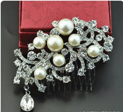 Fashion cat The new hair South Korea's bride headdress Marriage act the role ofing is tasted Pearl diamond Insert dish hair combs
