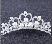 Fashion cat Upscale atmosphere High-end crown Head band Love the pearl With the crystal Set auger tyre