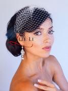 Leslie Li Women's Bridal Birdcage Veil One Size White LV23