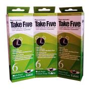 Dongsung Take 5 Hair Dye Grey Hair Coveage No. 6 Dark Brown Pack of 3