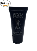 ECO AMENITIES Black Tube Flip Cap Individually Wrapped 22ml Conditioner, 288 Tubes per Case