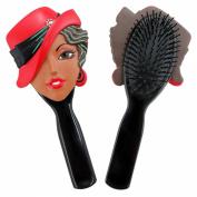 Jacki Design Charming Stylish Flexible Hair Brush Carrie Style - Black