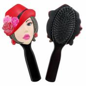 Jacki Design Stylish Hair Brush Donna Style- Black