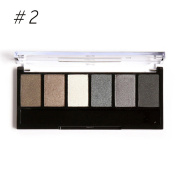 Eshion 6 Colours Makeup Shimmer Eyeshadow Palette With Mirror Eye Shadow Sponge