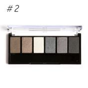 Eshion 6 Colours Makeup Shimmer Eyeshadow Palette With Mirror Eye Shadow Sponge