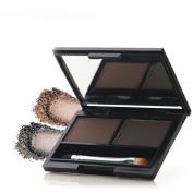 Bodermincer 2 Colour High Quality Waterproof Eyebrow Powder Dark Brown+Dark Grey With Eyebrow Brush