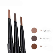 Bodermincer Double-head Automatic 3 Colour Waterproof Eyebrow Pencil With Brush