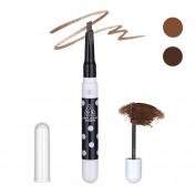 Face Forever Eyebrow Pencil Waterproof Automatic Rotation Dual Purpose Eyebrow Makeup Eyebrow Pencil & 3D Eyebrow Brush Cream 3 Colours Light brown,Brown,Dark brown.