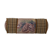 HiEnd Accents Crestwood Pinecone Neck Roll