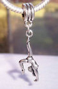 Beads Hut - Gymnastics Gymnast Sports Athlete Dangle Bead for Silver European Charm Bracelet