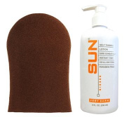 Sun Laboratories Sunless Self Tanning Lotion with Application Mitt (Very Dark)...
