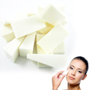 32 Makeup Cosmetic Wedge Triangle Facial Sponge Applicator White Foam Wedges !