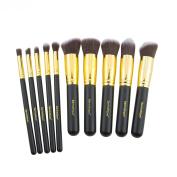 Dermatique Gold Makeup Brush Set, Beauty Blending, Face Powder, Blush Brushes Perfect for Use as Bronzer Brush, Concealer Brush, Contour Brush, Cosmetic Brush, Foundation Brush, etc.
