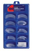 Gold Finger 100 Nails Clear Empress Curve