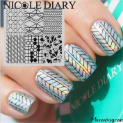 NICOLE DIARY Geometry Pattern Nail Art Stamp Template Image Stamping Plate NDP-111