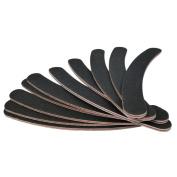 10 Double Sided 100/180 Grit Boomerang/Bana Na Curved Nail Files Uk Emery Board