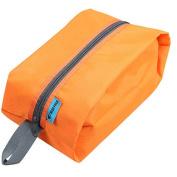 Durable Hanging Toiletry Kit, Portable Travel Organiser with Zipper for Men & Women, Orange