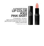 3 Concept Eyes Lip Colour, 303-Pink Skirt, 3.5 Gramme
