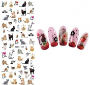 Nail Art Water Transfer Stickers Cat Nail Sticker Tattoo - FashionDancing