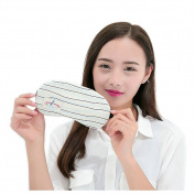 Ayygiftideas Creative Stripe Navy Eye mask Sleeping Eyepatch With Gel Eye Mask