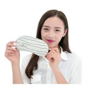 Ayygiftideas Creative Stripe Navy Eye mask Sleeping Eyepatch With Gel Eye Mask