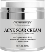 Acne Scar Cream from New York Biology - EGF Anti Acne Cream Helps Get Rid of Acne Scars Fine Lines and Wrinkles - 50ml