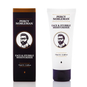 Face and Stubble Moisturiser by Percy Nobleman 75ml / 2.5fl.oz. A Moisturising Facial Treatment Cream for Men. 98% Naturally Derived and Scented with Peppermint & Cucumber.