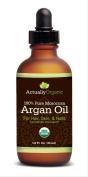 ActuallyOrganic Argan Oil for Hair, Face, Skin, Nails and Beard-NOT SYNTHETIC-NOT RANCID - 100% Pure USDA Organic Argan Oil - Lab Tested for Purity. Provides Beautifully Healthy, Nutrient-Rich Moisture. Moroccan Oil for Silky, Smooth Hair & Softer Skin ..