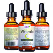Enhanced Vitamin C Serum 20% Vitamin C & Vitamin E & Hyaluronic Acid 30ml Best Anti-Ageing & Anti-Wrinkle Protection Help Repair Sun Damage & Facial Blemishes Organic Ingredients. By Nutra Prima