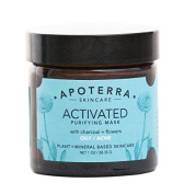 Apoterra - Organic Activated Purifying Mask with Charcoal + Flowers