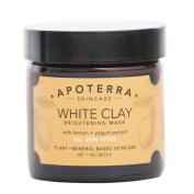 Apoterra - Organic White Clay Brightening Mask with Lemon + Yoghurt Extract