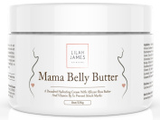 Lilah James Pregnancy Belly Butter 240ml - Organic Decadent Cream Prevents Stretch Marks And Hydrates Skin