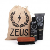 Zeus Basic Beard and Moustache Grooming Kit for Men - Beard Care Starter Kit to Help with Itching and Dry Skin (Scent