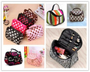 Hearts Shop Portable Zebra Pattern Lady Makeup Bag Toiletry Cosmetic Storage Organiser for Travel