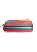 Tory Burch Printed Nylon Large Moulded Cosmetic Case in Multi Stripe
