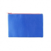 January 2015 Blue White Zippered Cosmetics Makeup Bag