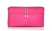 LOUISE MAELYS Zipper Travel Cosmetic Bag Makeup Brush Holder Top Handle Toiletry Bag Organiser