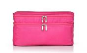 LOUISE MAELYS Zipper Travel Cosmetic Bag Makeup Brush Holder Top Handle Toiletry Bag Organiser