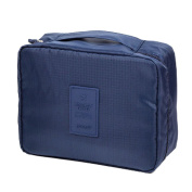 Amybria Travel Makeup Organisers Packing Cubes Cosmetic Bag Luggage Compression Pouches Dark Blue