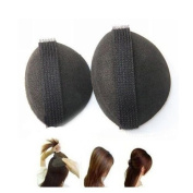 Dorisue 2pcs Big & Small Black Hair Buns Accessorie Sponge Swelling Curvature Volume Base