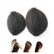 Dorisue 2pcs Big & Small Black Hair Buns Accessorie Sponge Swelling Curvature Volume Base