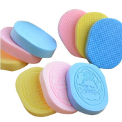 Bigban Women's Simple Compressed Natural Facial Sponge Puff Face Wash Cleaning Sponge Practical Soft