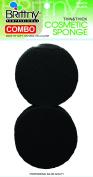 BR C/SPONGE RUBBER BLACK 2PC/PK BR1634