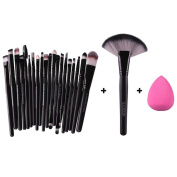 Makeup Brushes,Hatop 22pcs Makeup Brush Makeup Sponge Makeup Brush Cleaner Foundation Brush