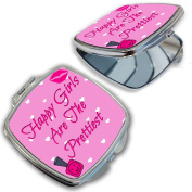BleuReign(TM) Happy Girls Are The Prettiest Compact Mirror